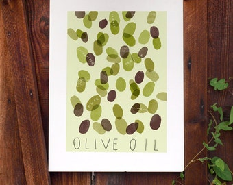 OLIVE OIL Olives / high quality fine art print by Anek