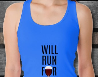 Will Run For Wine Women's Tank