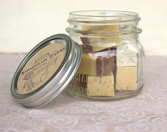 Mini Soaps - Small Soaps - Guest Soaps in a Jar - Mason Jar of Soap - Soap Jar Set - Kids Soap - Housewarming Gift - Soap Sampler