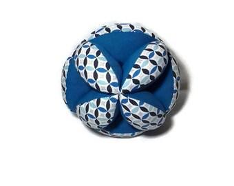 Balle de préhension montessori tissu motifs géométrie pour l'éveil de bébé