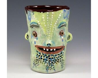 Jimmy - zwei doppelseitigen Keramik Becher von Jenny Mendes