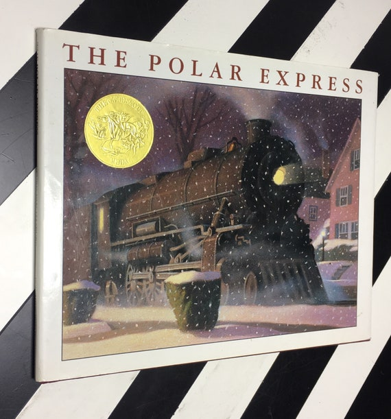 The Polar Express Written and Illustrated by Chris Van Allsburg (1985) hardcover book