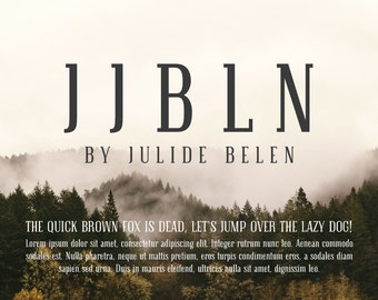 JJBLN | Font By Julide Belen:  Elegant Slab Serif Regular