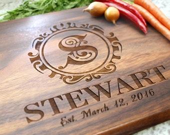 Personalized Cutting Board - Engraved Cutting Board, Custom Cutting Board, Wedding Gift, Housewarming Gift, Anniversary Gift W-017 GB