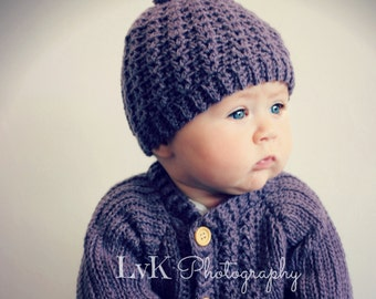 Download Now - CROCHET PATTERN Simple Cable Beanie - Sizes Baby to Adult - Pattern PDF