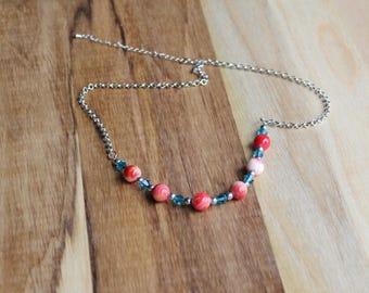 SALE:Red, White & Blue Necklace (med)