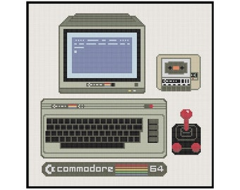 Commodore 64 - Cross Stitch PDF Pattern Instant Download