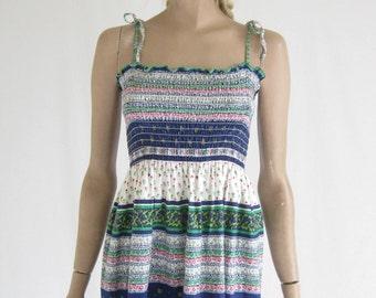Vintage 70's Boho Sun Dress. Size Small