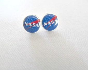 Nasa Stud Earrings Astronaut, International Space Station