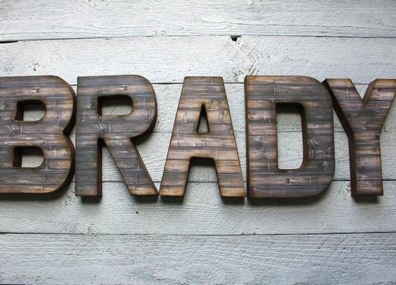 distressed wood letters rustic home decor distressed letters wooden letters 21380 | il 570xN.1286918737 f1wt