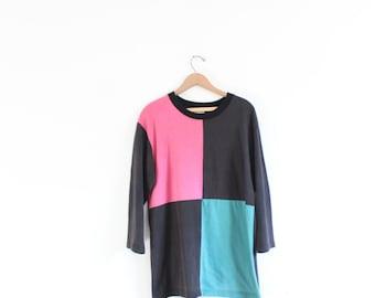 Bold Colorblock 80s Tunic Tee
