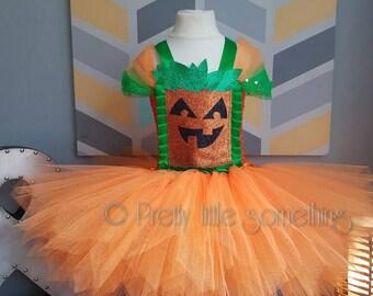 Halloween pumpkin, tutu dress, fancy dress, girls costume