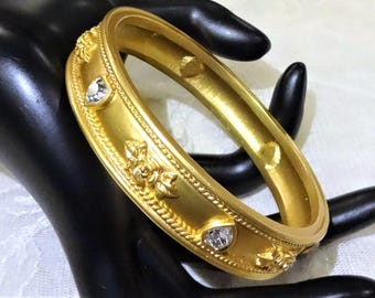 Vintage Elizabeth Taylor for Avon Love Blooms Collection Bangle (Small Wrist)