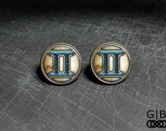 Gemini Gift Stud Earrings Gemini Birthday Gift - Gemini Studs Earrings - Gemini Birthday Gift Earrings Gemini Astrology Earrings Jewelry