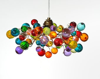 Bubbles Light, Lighting, Ceiling Pendant light, Multicolored bubbles pendant light for Kitchen island, bedside light - modern lighting