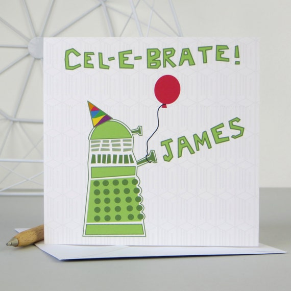 Doctor who dalek birthday card dr who bbc personalised like this item bookmarktalkfo Images