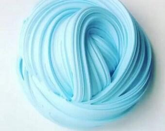 Fluffy baby blue slime