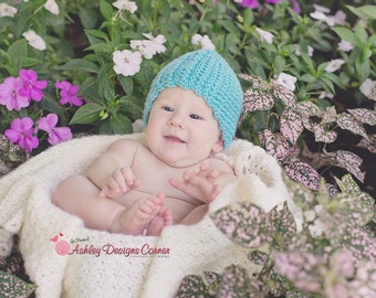 Crochet Pattern Brooke Beanie - PDF - Instant Digital Download (Newborn - Adult)