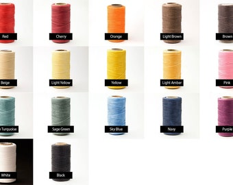 10yards 1mm Waxed Polyester Cord, Waxed Thread, Braided  Beading Thread, Macrame String, 17 Colors