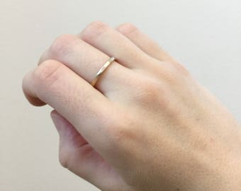 Thick Hammered Ring, Simple Band, Unisex Ring, Everyday Simple Ring, Textured Ring