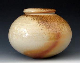 WOOD FIRED VASE #16 - Wood Fired Jar - Wood Fired Bottle - Stoneware Vase - Stoneware Jar - Ceramic Vase. Ikebana - Wood Fired Pottery