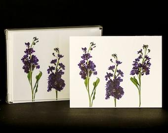 Set of 8 Handmade Flower Themed Blank Photographs Greeting Cards w/ Envelopes