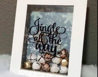 Fits 4x6 or 5x7 frame Jingle All the Way Bell Frame Decal