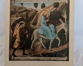 Fra. Angelico, Flight into Egypt, Art Print