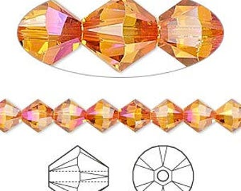 Swarovski® Crystal Passions® Crystal Astral Pink Faceted Bicone Crystals 6mm 12 pcs