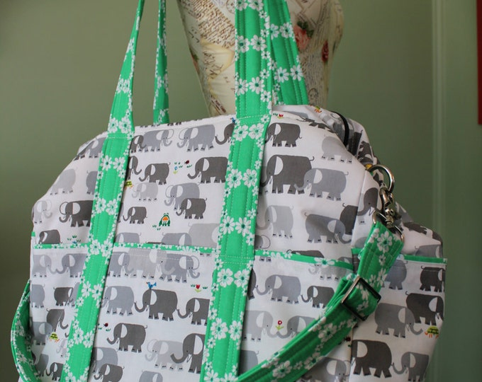 Watermelon Wishes Large Diaper Bag for Twins or Triplets