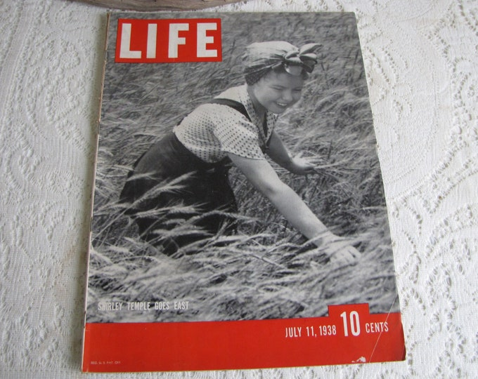 Life Magazines 1938 July 11 Shirley Temple Goes East Vintage Magazines and Advertising