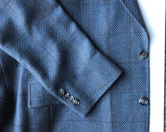 Southwick Nordstrom Navy Blue Wool Sport Coat DUxY31r