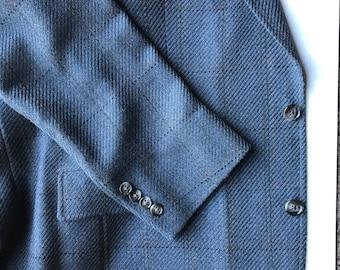Austin Reed Navy Blue Wool Sport Coat