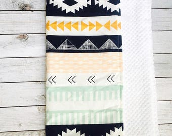 Aztec Changing Pad. Boho Nursery. Changing Pad. Roll Up Changing Pad. Aztec Changing Pad. Nursery Room. Tribal Baby. Baby Shower Gift