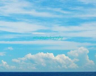 Cantabile - Seascape ocean sea abstract home decor for her him love the ocean blue sea blue ocean love Fine Art Print 16x16 Limited 1/50