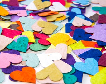 200 Plantable Seed Paper Hearts - diy wedding favors, place cards, save the date cards, creative invitations