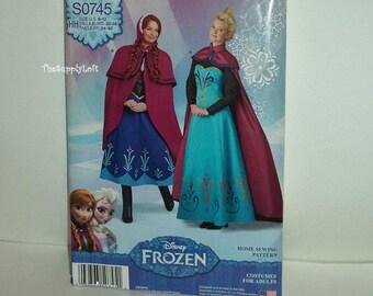 Sale Brand New Simplicity S0745 Pattern Disney Frozen Elsa Coronation Anna Dress Costume Women Misses Size 6 8 10 12 Cosplay Halloween