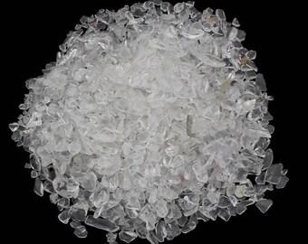 65g Quartz Clear Gemstone Mineral Rock Chips