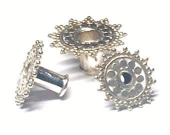 Silver Ear Tunnel Starburst - 7 sizes (JS-T-001)