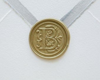 B Letter Wax Seal | Initial Wax Seal Stamp