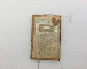 Shabby Scrappy Journal, 4 x 6, Junk Journal, Tea Dye Journal, Mini Album, Photo Album, Vintage Journal,