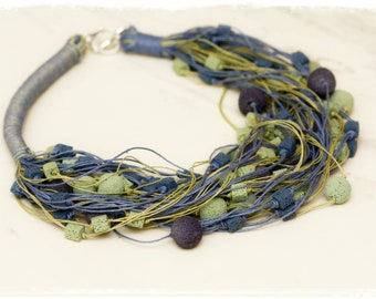 The Voulcano Energy Linen necklace