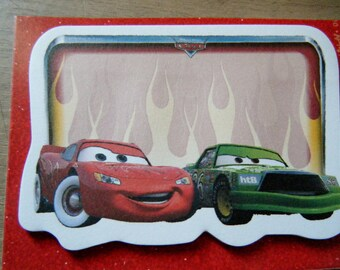 stickers type note pad, Notepad, post it with flash mc queen and Disney chick in cars pattern