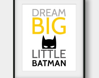 60% OFF Dream Big Little Batman Print, Batman Printable Art, Batman Poster, Superhero Print, Dream Big Print, Scandinavian, Boys Room Decor