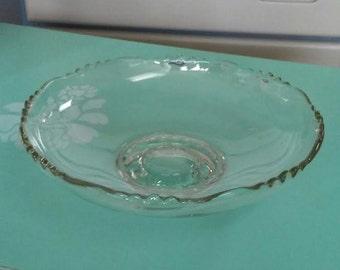 Centerpiece Bowl, Glass Bowl, Vintage Bowl, Indiana Glass, Display Bowl, Glass Centerpiece, Vintage Glass, Fruit Bowl, Decorative Bowl
