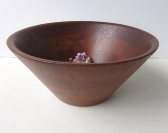 Vintage Burl Walnut Salad Bowl - Mid Century Modern Large Oval  Salad Bowl - Burl Walnut - Billings Missouri - Natural Wood Salad Bowl