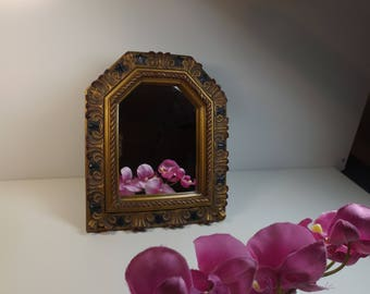 Beautiful Ornate Mirror with easel and hanger. Table standing or wall hanging Make up mirror .Vanity Mirror, Home decor. Gift idea