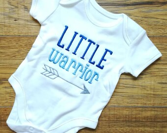 Little warrior, baby boy vest, new baby gift, unique baby gift, baby shower