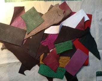 Leather Scrap Pack FREE SHIPPING