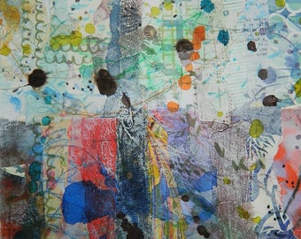 A4 Textured Collage Sheet - Warm & Cool